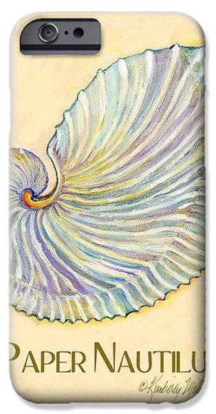 Sign-writing iPhone Cases - Paper Nautilus iPhone Case by Kimberly McSparran