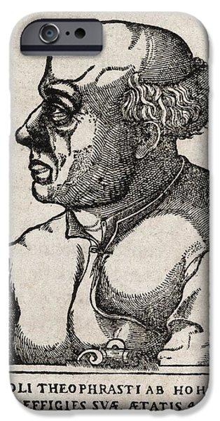 Paracelsus, Swiss Alchemist iPhone Case by Middle Temple Library