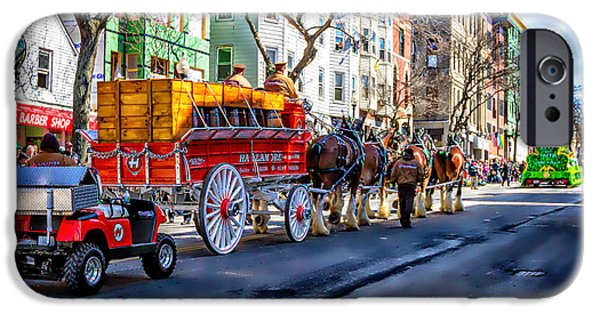 Boston Ma iPhone Cases - Parade Route South Boston iPhone Case by Larry  Richardson