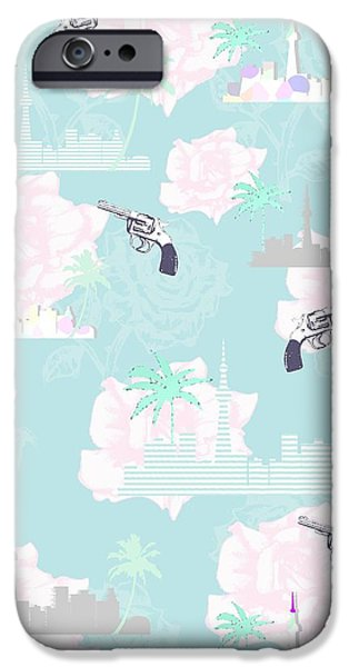 Shower Curtain iPhone Cases - Paradise City iPhone Case by Beth Travers