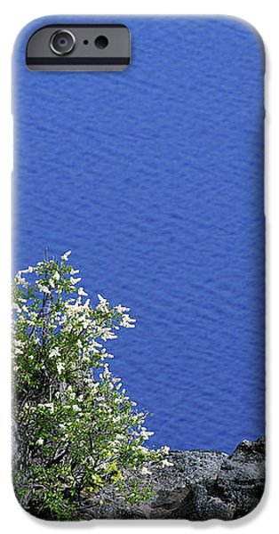 Paradise for Backpackers - Crater Lake in Crater National Park - Oregon iPhone Case by Christine Till