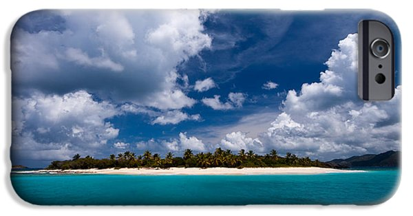 Scenic Photo Photographs iPhone Cases - Paradise is Sandy Cay iPhone Case by Adam Romanowicz