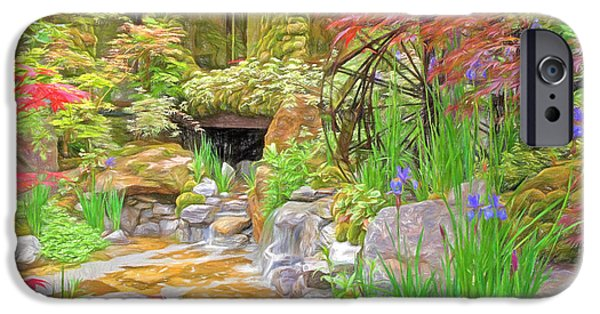 Spring Scenery iPhone Cases - Paradise On Earth Impressions iPhone Case by Gill Billington