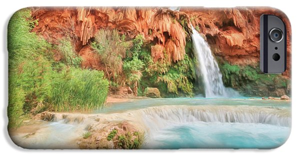 Grand Canyon iPhone Cases - Paradise on Earth iPhone Case by Lori Deiter
