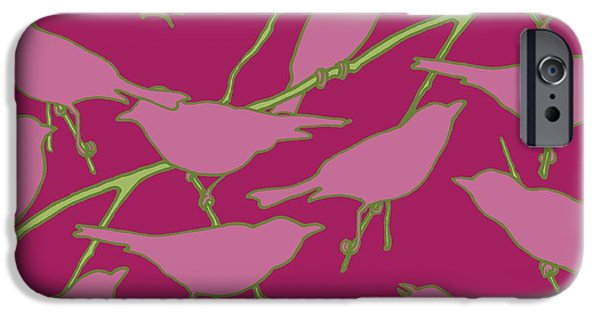 Birds Digital iPhone Cases - Paradiso iPhone Case by Sarah Hough