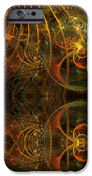 Apophysis Pastels iPhone Cases - Parallel Visions of Time   iPhone Case by Gayle Odsather