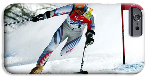 Disorder iPhone Cases - Paralympics Skiier iPhone Case by Ria Novosti