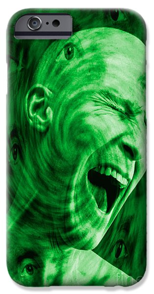 Multiple Identities iPhone Cases - Paranoid Personality Disorder iPhone Case by George Mattei
