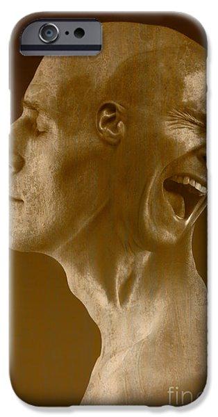 Multiple Identities iPhone Cases - Paranoid Schizophrenia iPhone Case by George Mattei