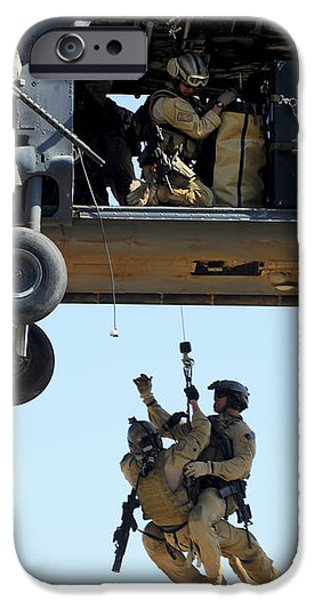 Pararescuemen Are Hoisted Into An Hh-60 iPhone Case by Stocktrek Images