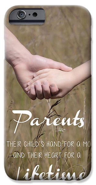 Child iPhone Cases - Parents for a lifetime iPhone Case by Joana Kruse