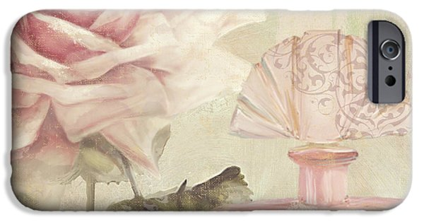 Rose iPhone Cases - Parfum de Roses I iPhone Case by Mindy Sommers