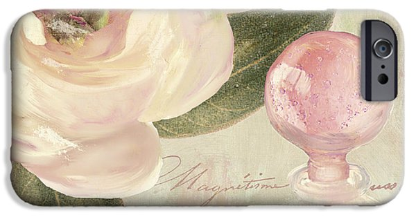 Rose iPhone Cases - Parfum de Roses II iPhone Case by Mindy Sommers