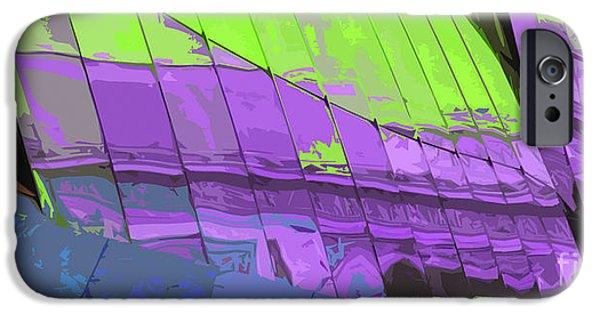 Abstract Digital Art iPhone Cases - Paris Arc de Triomphe iPhone Case by Yuriy  Shevchuk