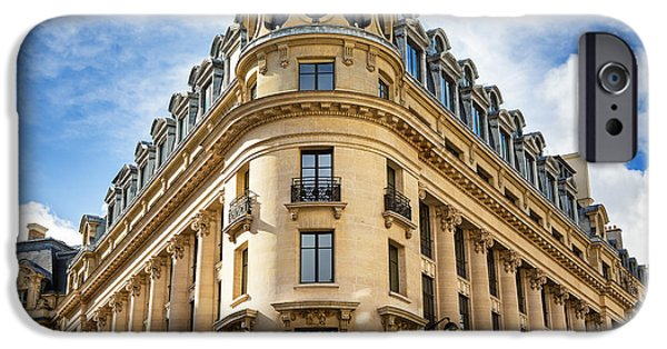 Balcony iPhone Cases - Paris architecture iPhone Case by Jane Rix
