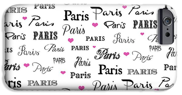 Cities Tapestries - Textiles iPhone Cases - Paris Bedding and Shower Curtain iPhone Case by Anahi DeCanio - ArtyZen Studios