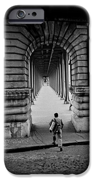 Music Pyrography iPhone Cases - Paris Bir Hakeim. iPhone Case by Cyril Jayant