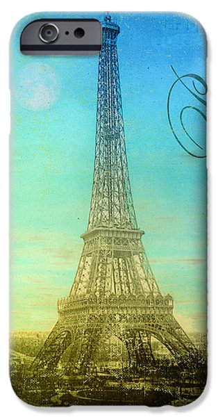 Paris Paintings iPhone Cases - Paris Eiffel Tower iPhone Case by Mindy Sommers