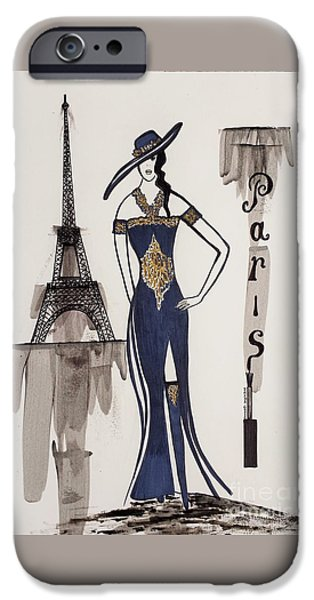 Fabulous Gifts iPhone Cases - Paris Fashion iPhone Case by Jasna Gopic
