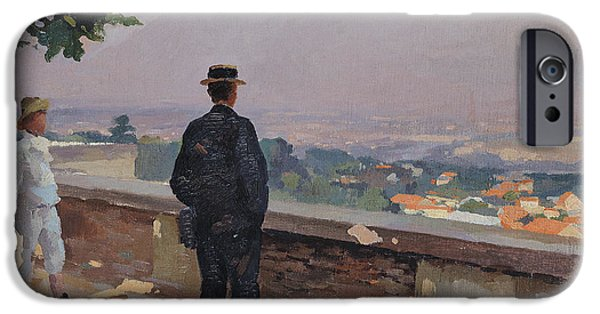 Young Boy iPhone Cases - Paris from the observatory at Meudon iPhone Case by Jules Ernest Renoux