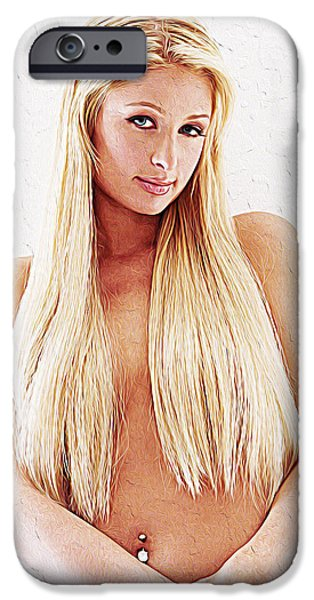 Cute Puppy iPhone Cases - Paris Hilton iPhone Case by Queso Espinosa