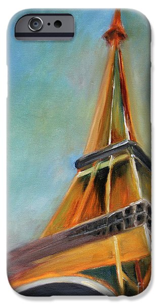 Big Cities iPhone Cases - Paris iPhone Case by Jutta Maria Pusl