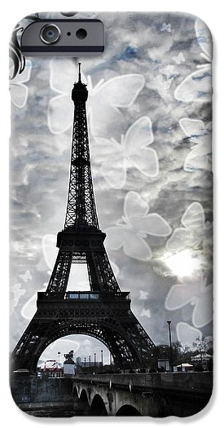 Grey Clouds Photographs iPhone Cases - Paris iPhone Case by Marianna Mills