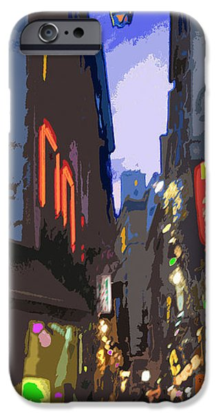 Abstract Digital Art iPhone Cases - Paris Quartier Latin 01  iPhone Case by Yuriy  Shevchuk