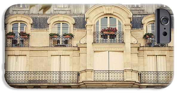 Balcony iPhone Cases - Parisian Home iPhone Case by Juli Scalzi