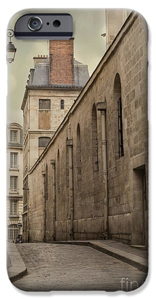 Alley iPhone Cases - Parisian Street iPhone Case by Juli Scalzi