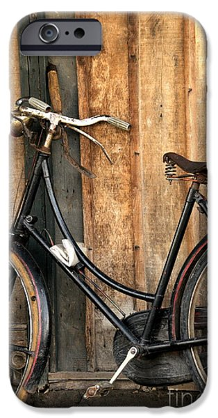 Bi-cycle iPhone Cases - Parked iPhone Case by Charuhas Images