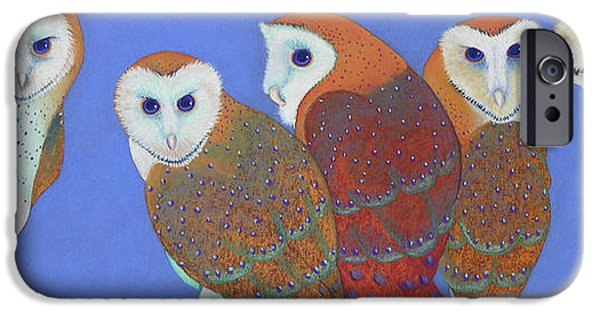 Barns Pastels iPhone Cases - Parliament of Owls iPhone Case by Tracy L Teeter