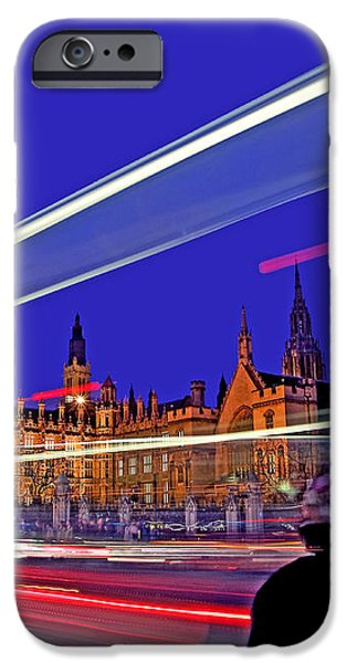 Parliament Square with Silhouette iPhone Case by Chris Smith