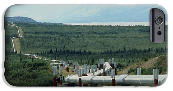 Energy Industry iPhone Cases - Part Of The Trans-alaskan Oil Pipeline iPhone Case by Pekka Parviainen