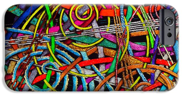 Contemporary Abstract iPhone Cases - Particle Track Forty-three iPhone Case by Scott Wallin