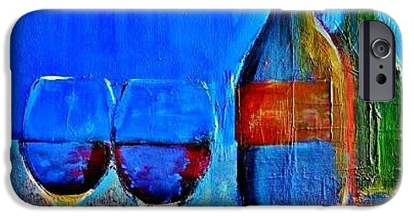 Wine Bottles iPhone Cases - Partners iPhone Case by Lisa Kaiser