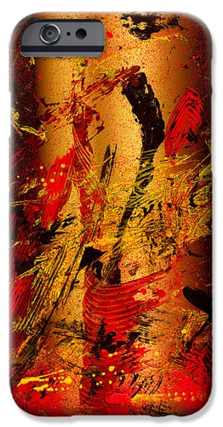 Swiss Mixed Media iPhone Cases - Party At The Hockey Match   iPhone Case by Manuel Sueess