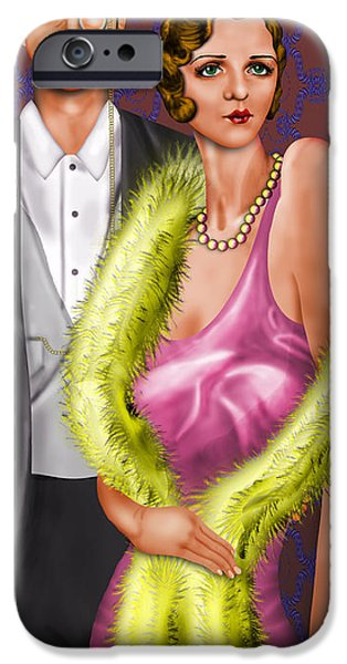 Little Girl iPhone Cases - Party at the Ritz iPhone Case by Troy Brown