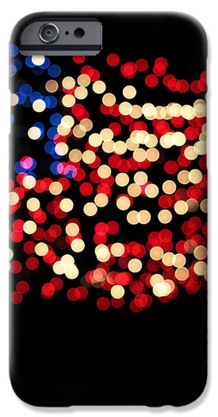 4th July Photographs iPhone Cases - Party Lights In The Shape iPhone Case by Ink and Main