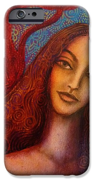 Parvati Paintings iPhone Cases - Parvati iPhone Case by Alice Mason