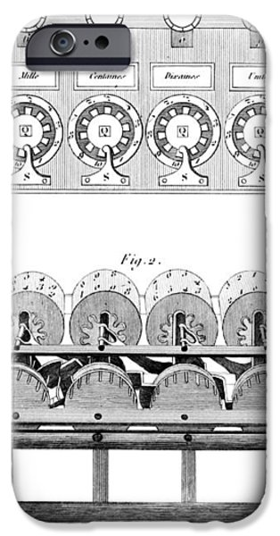 Pascal's Calculator, 17th Century Artwork iPhone Case by Library Of Congress