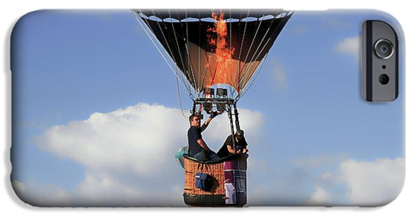 Hot Air Balloon iPhone Cases - Passing By iPhone Case by Donna Kennedy