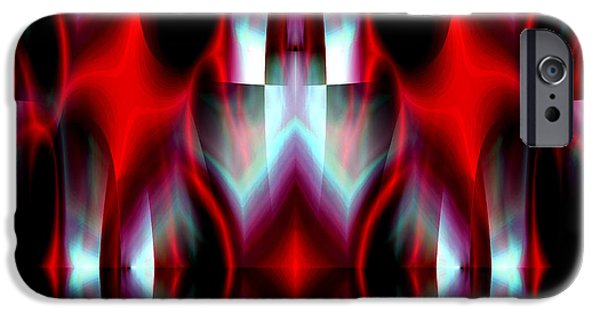 Abstract Expressionist iPhone Cases - Passion for Red 1 iPhone Case by Stephen  Killeen