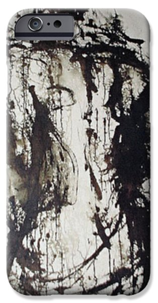 Painter Drawings iPhone Cases - Passion iPhone Case by Jarmo Korhonen aka Jarko