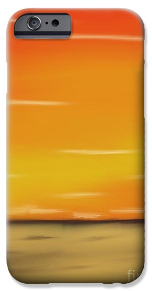 Abstract Seascape Pastels iPhone Cases - Passion iPhone Case by Jerod Roberts