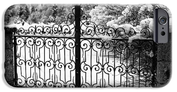 Snowy Day iPhone Cases - Past the Snowy Gate iPhone Case by John Rizzuto