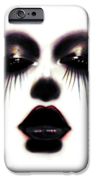 Creepy Pastels iPhone Cases - Pastel Eyes iPhone Case by Alycia Plank