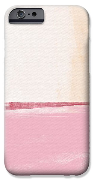 Corporate Art iPhone Cases - Pastel Landscape iPhone Case by Linda Woods
