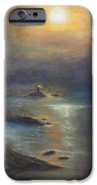 Lighthouse Pastels iPhone Cases - Pastel MSC 002 iPhone Case by Mario Sergio Calzi
