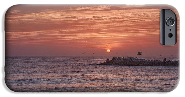 Ocean Sunset iPhone Cases - Pastel Sky iPhone Case by Bill Roberts